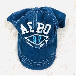 Men's Aeropostale Blue CA NY Vintage Hat S/M!